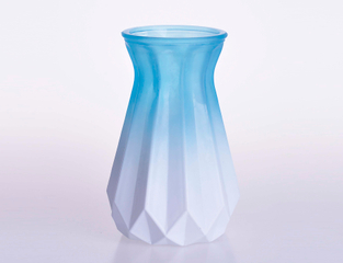 Crystal Flower Vase in Paper Folding Shap