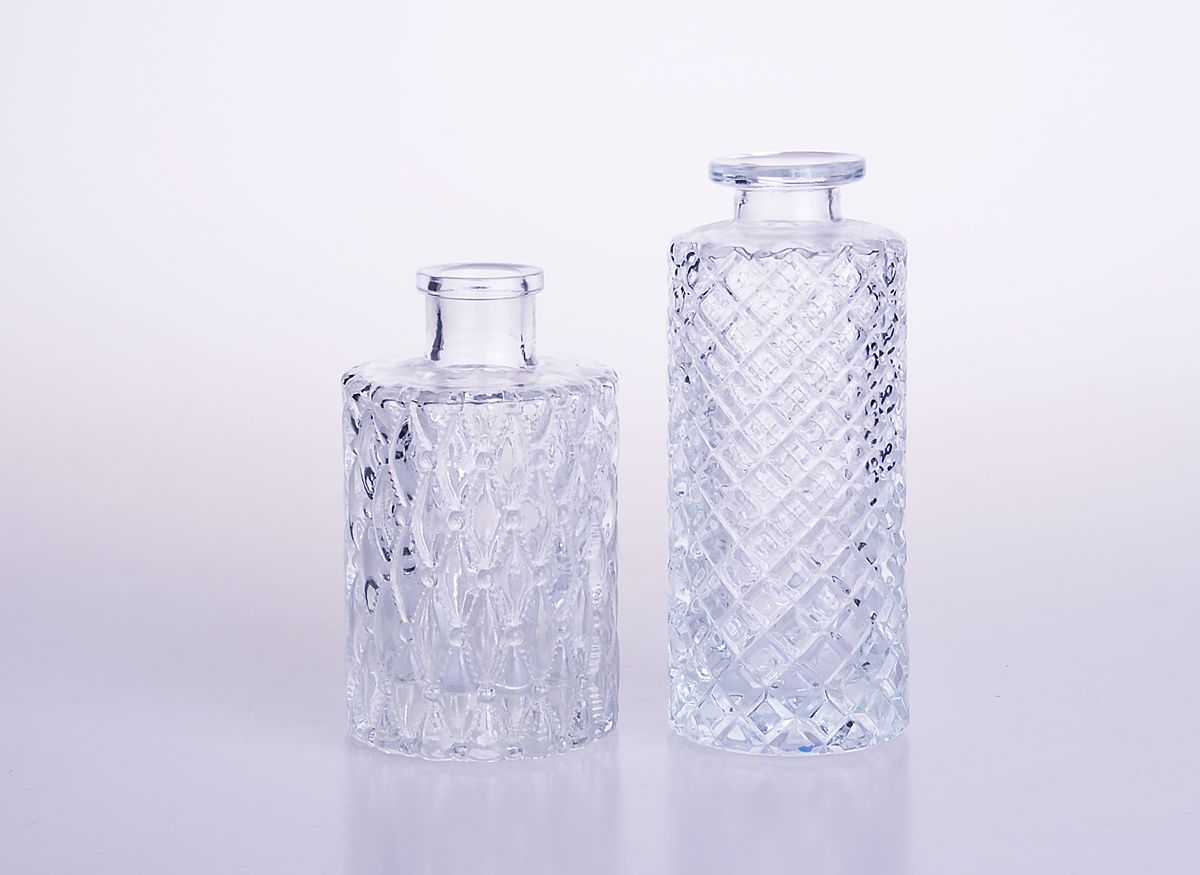 Glass Aroma Oil Diffuser Bottle with Rattan