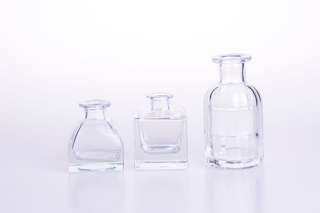 Tent Or Square Shape Perfume Diffuser Glass Bottle