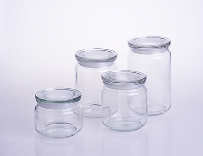 Round Large Glass Storage Container Jar