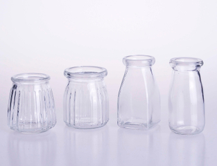 Yogurt Pudding Glass Jar Bottle