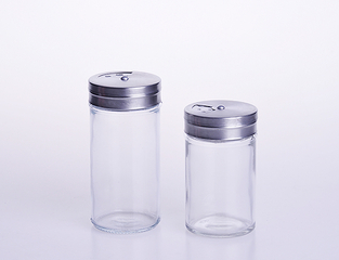 Round Kitchen Glass Spice Bottle
