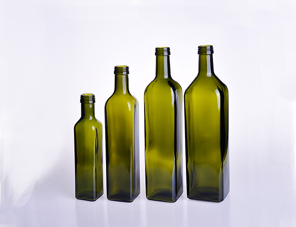 Square Olive Oil Glass Bottle