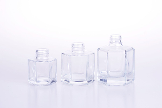 Hexagonal Glass Reed Diffuser Bottle with Rattan