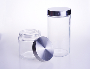 Round Large Glass Storage Jar